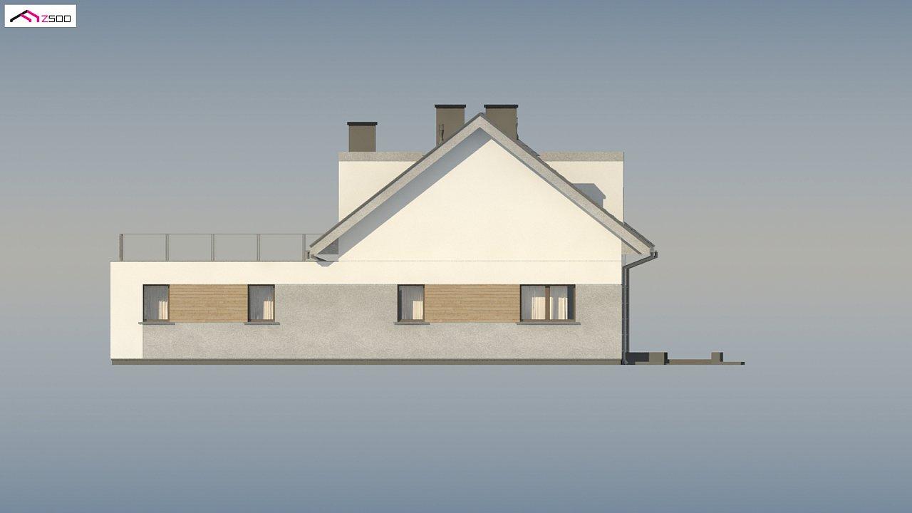 Cтильный мансардный дом с гаражом для двух машин 9