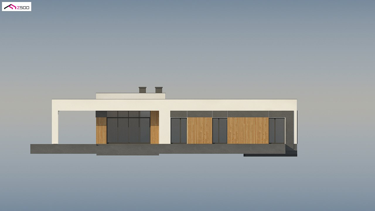 Проект стильного одноэтажного дома в современном стиле 7