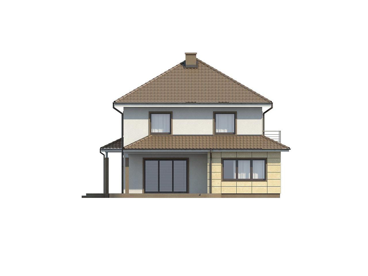 Просторный и функциональный двухэтажный дом с многоскатной кровлей и гаражом. - фото 5