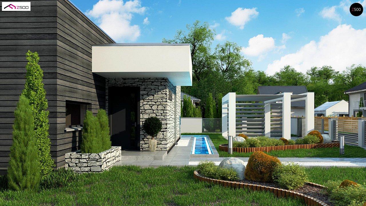 Современный одноэтажный дом с 3 спальнями и внутренним двориком 5
