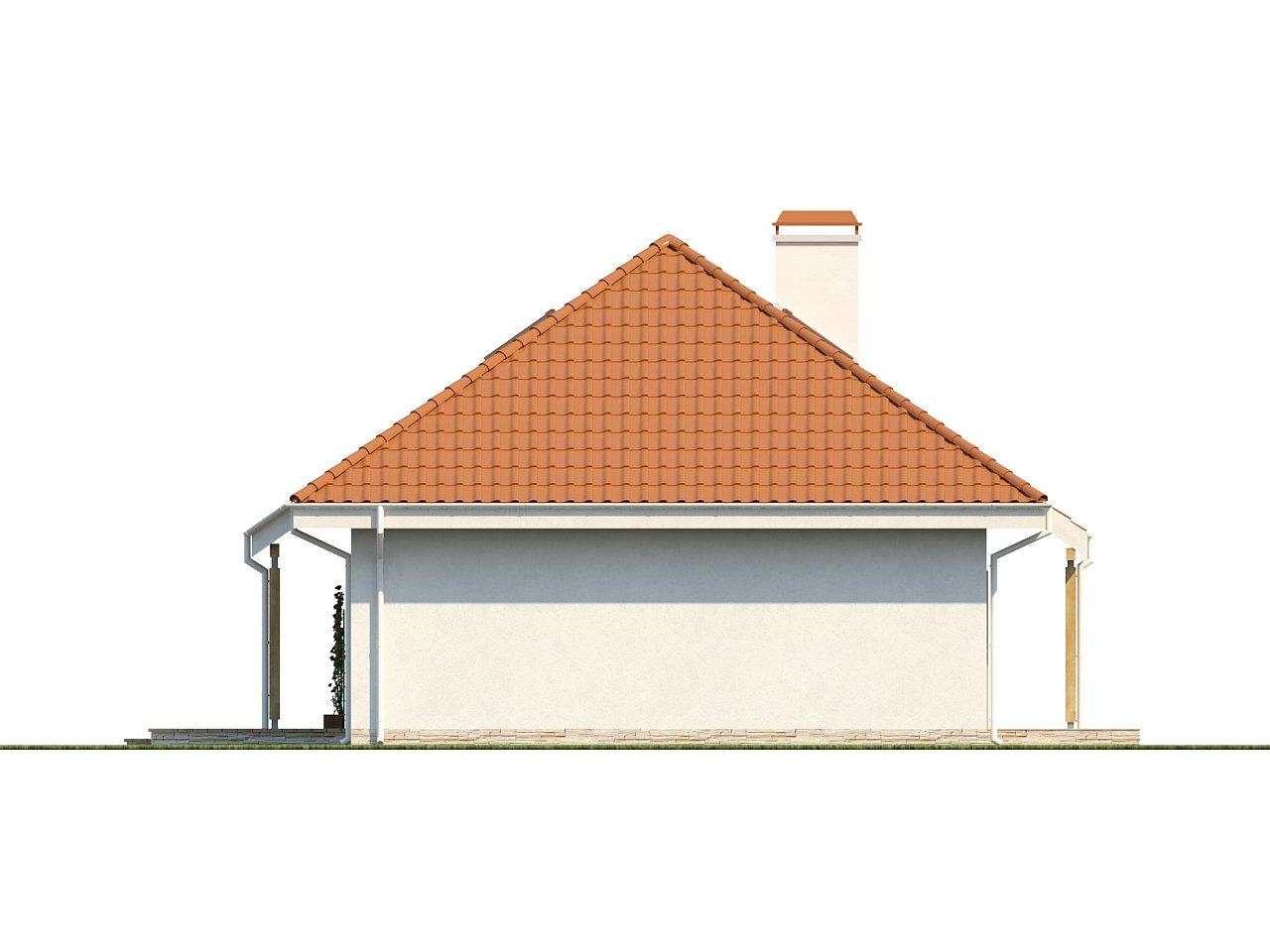 Одноэтажный дом в традиционном стиле с возможностью обустройства чердачного помещения. - фото 6