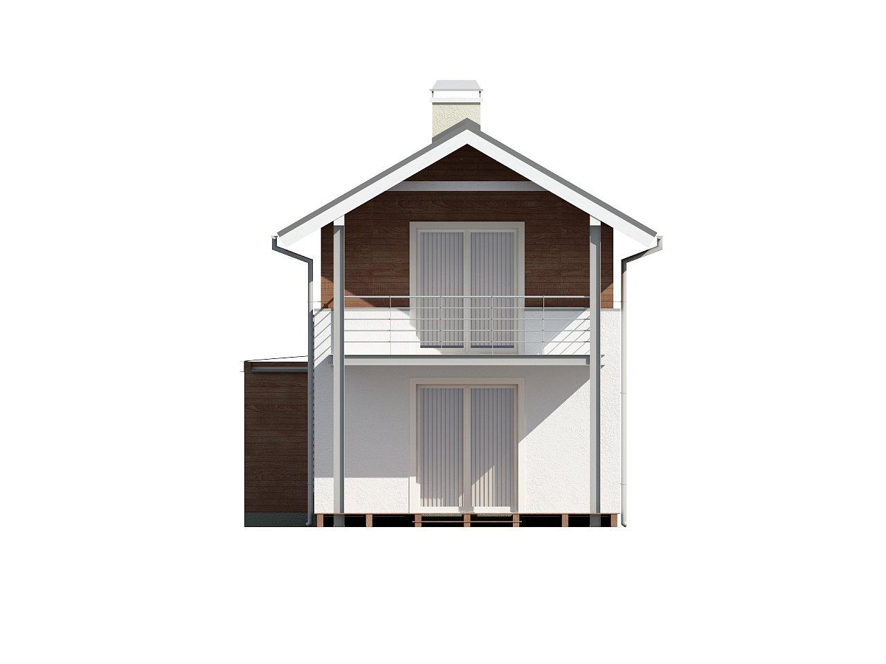 Проект двухэтажного дома для очень узкого участка. - фото 4