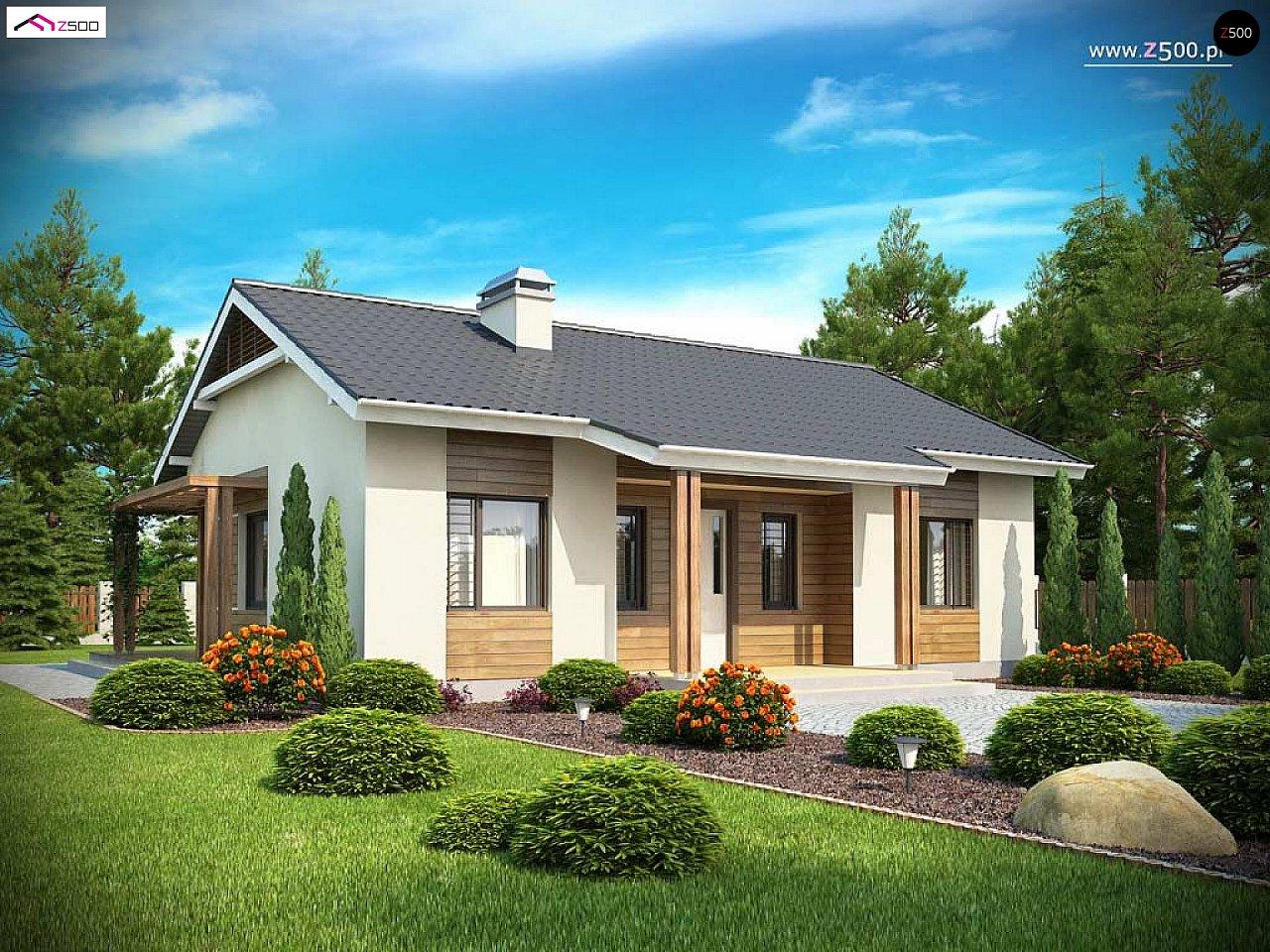 Проект одноэтажного дома с приятным дизайном 3
