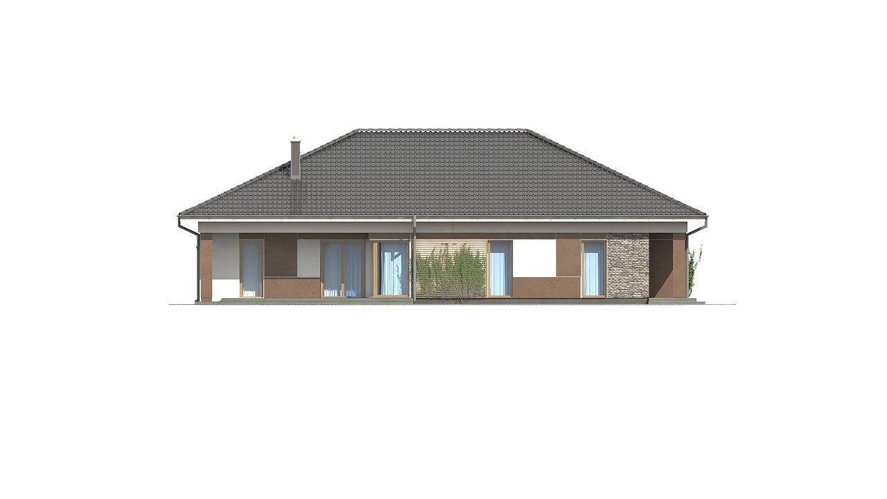 Проект просторного одноэтажного дома с 4 спальнями. - фото 4