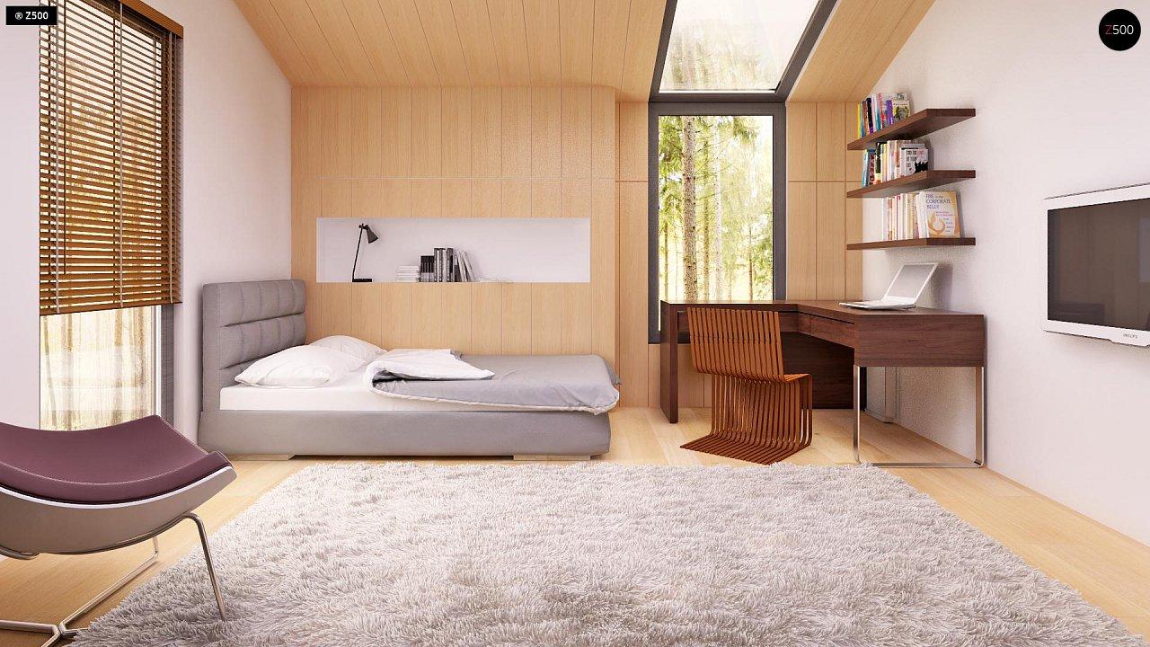 Современный эксклюзивный дом с каменной облицовкой, подходящий для узкого участка. 8