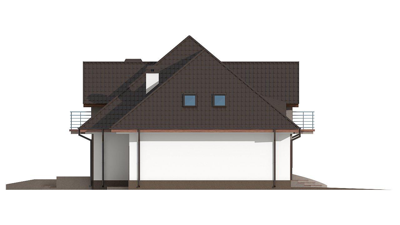 Версия проекта Z18 со встроенным гаражом с левой стороны дома - фото 27