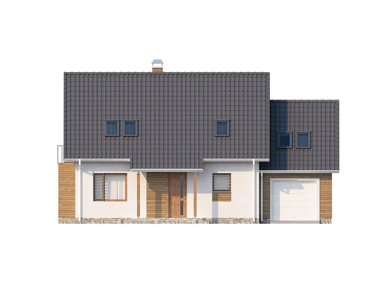 Проект функционального и удобного дома с комнатой над гаражом. 21