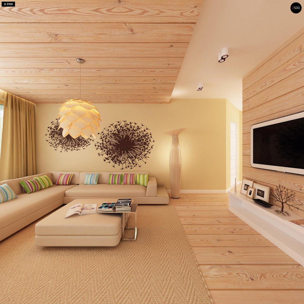 Функциональный одноэтажный дом с фронтальным гаражом для двух авто, большим хозяйственным помещением, с кухней со стороны сада. 10