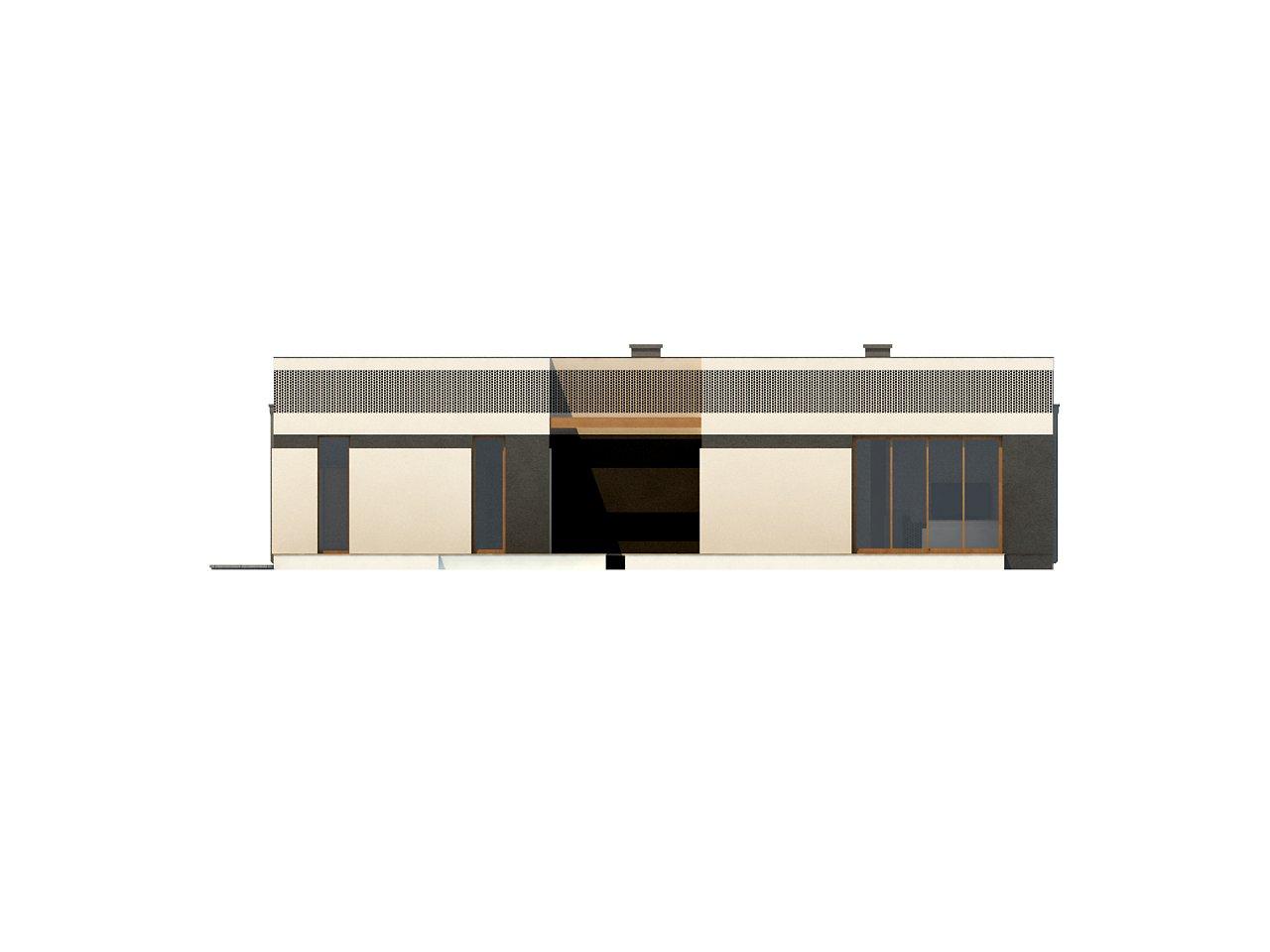 Проект дома в современном стиле с закрытой террасой - фото 15