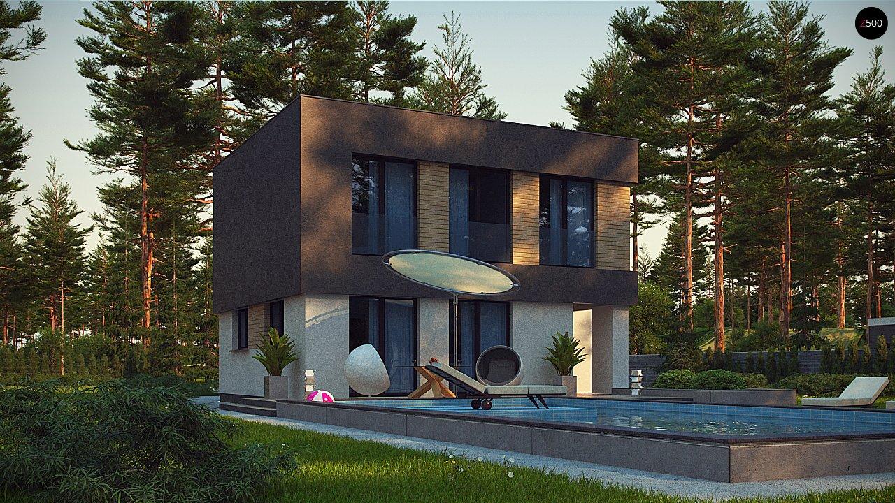 Двухэтажный дом с гаражом на две машины 4