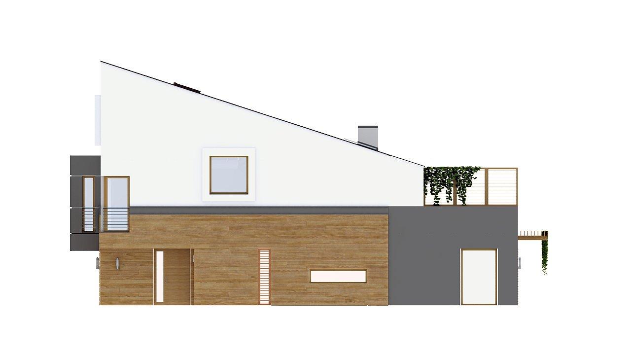 Дома для симметричной застройки с гаражом оригинального современного дизайна. 6