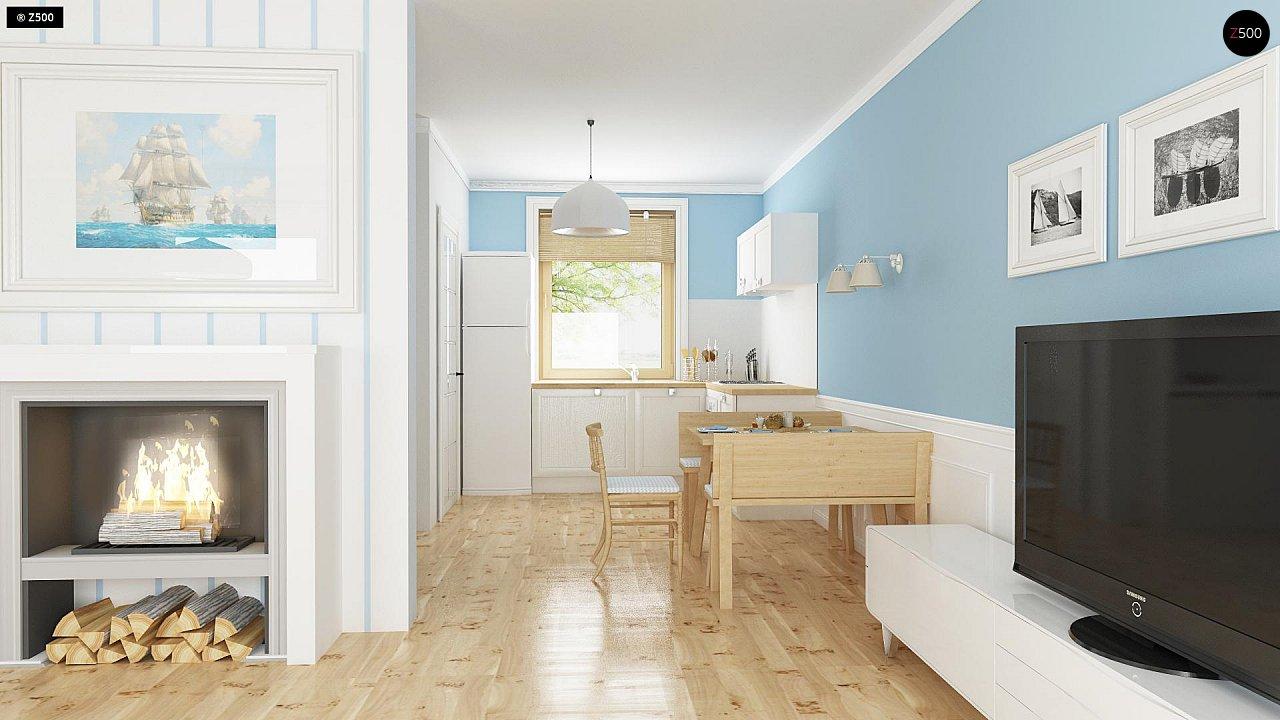 Функциональный и уютный дом с дополнительной спальней на первом этаже. Простой и экономичный в строительстве. 5