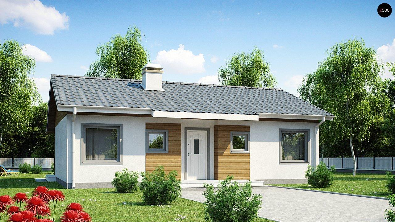 Компактный дом с двускатной крышей — выгодный, функциональный и практичный. 2