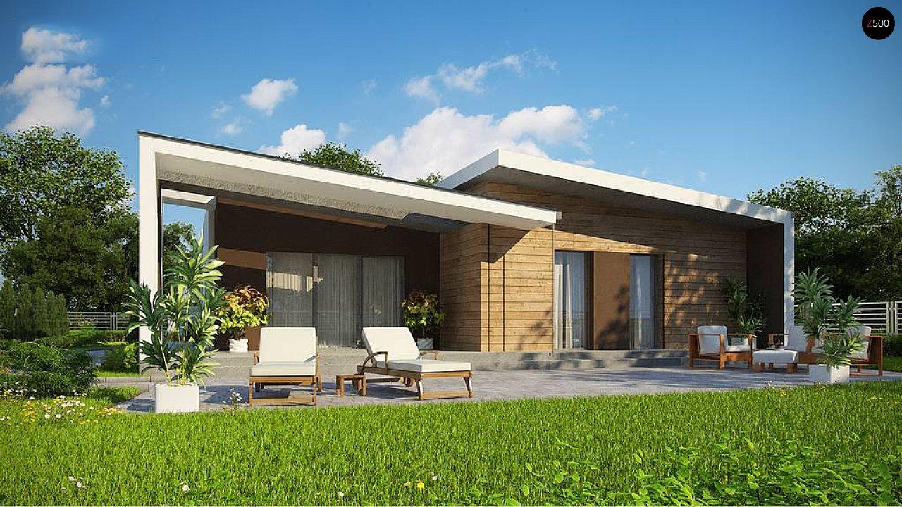 Современный и функциональный одноэтажный дом с уникальной архитектурной формой. 3