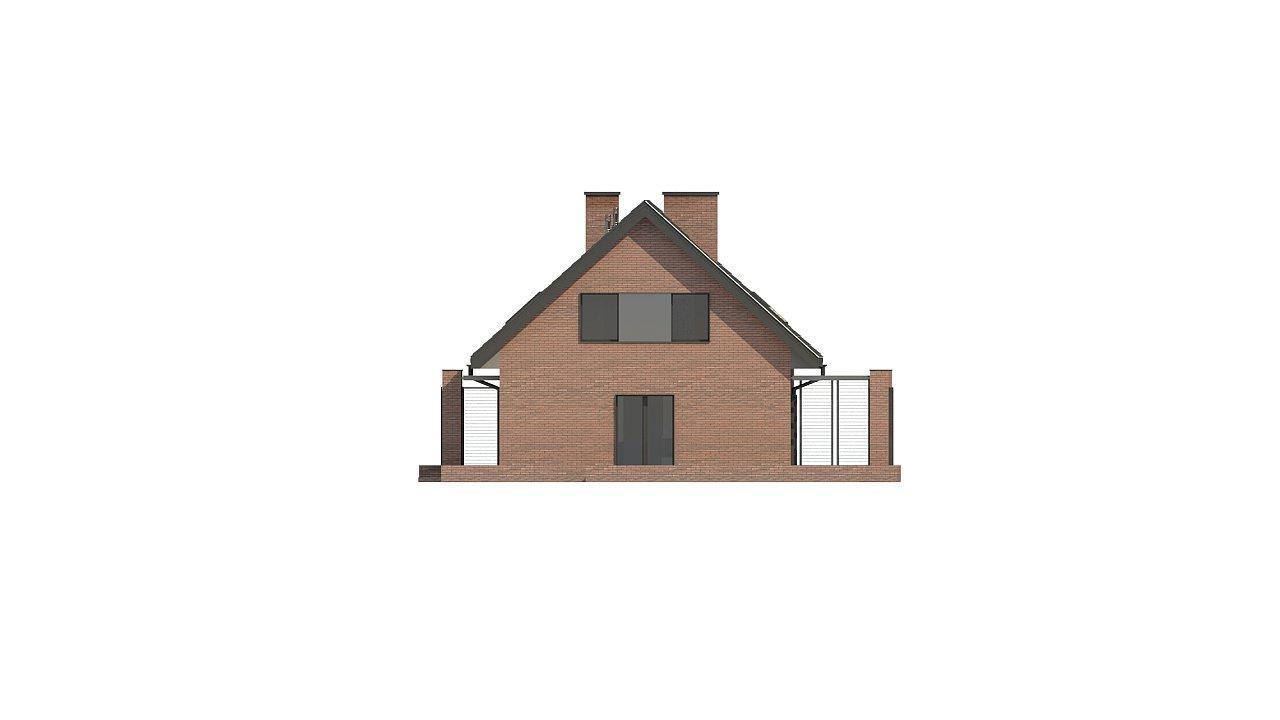 Стильный мансардный дом с двускатной кровлей 13