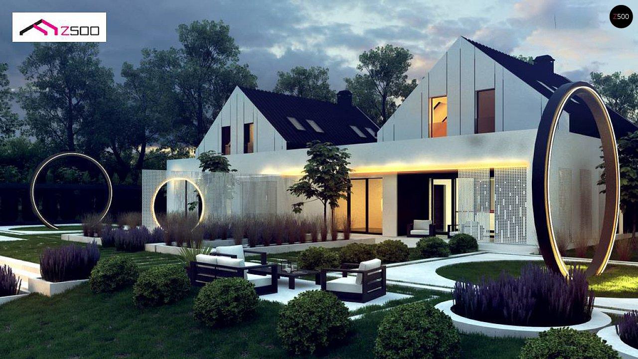 Современный двухсемейный дом с двускатной крышей 6