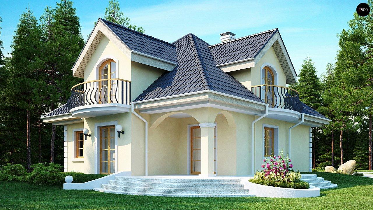 Проект изысканного классического дома с мансардой. 2