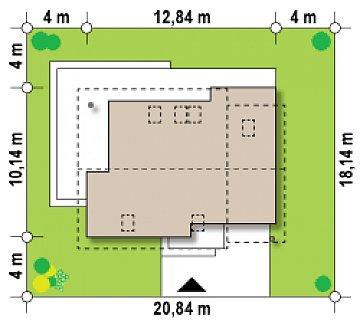 Проект аккуратного мансардного дома, с современным дизайном фасадов. план помещений 1