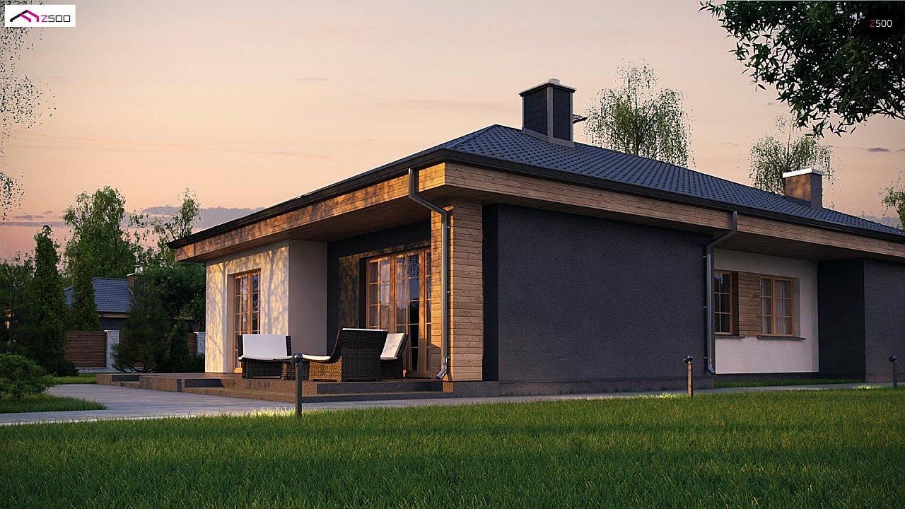 Красивый одноэтажный дом с удобной планировкой 2