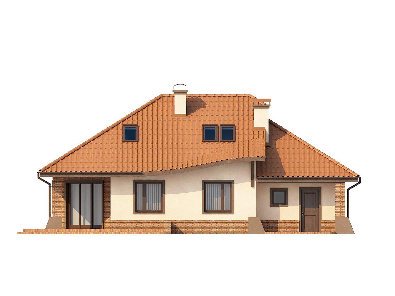 Просторный дом с гаражом, большим хозяйственным помещением и угловой террасой. - фото 4