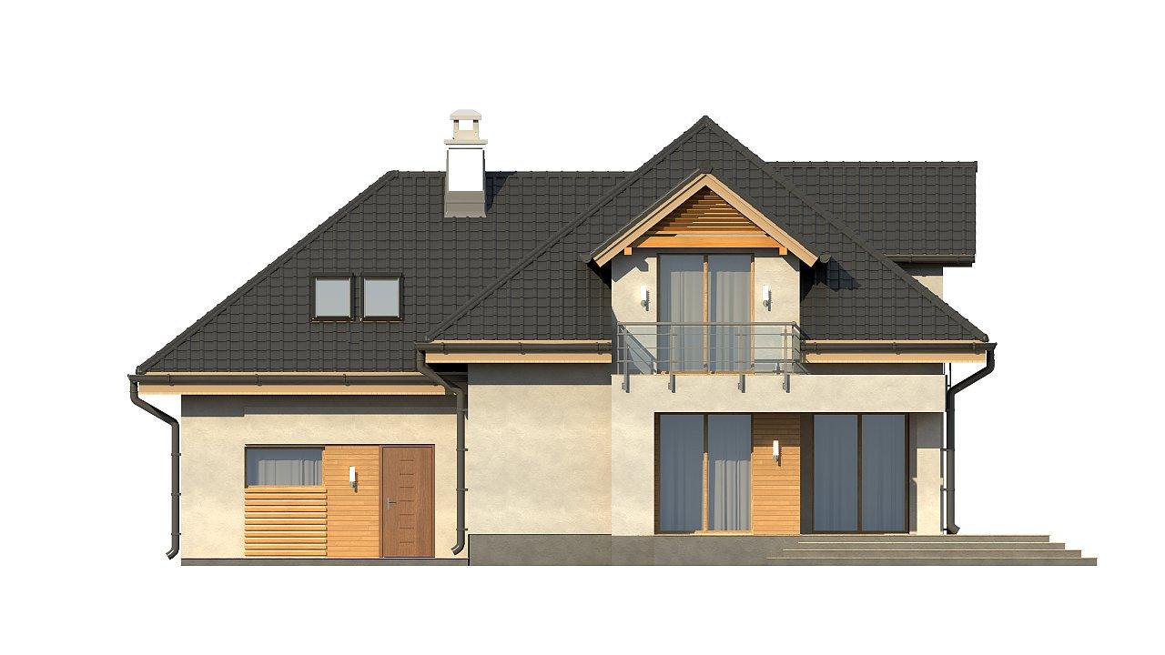 Комфортный дом привлекательного дизайна с дополнительной комнатой над гаражом. 17