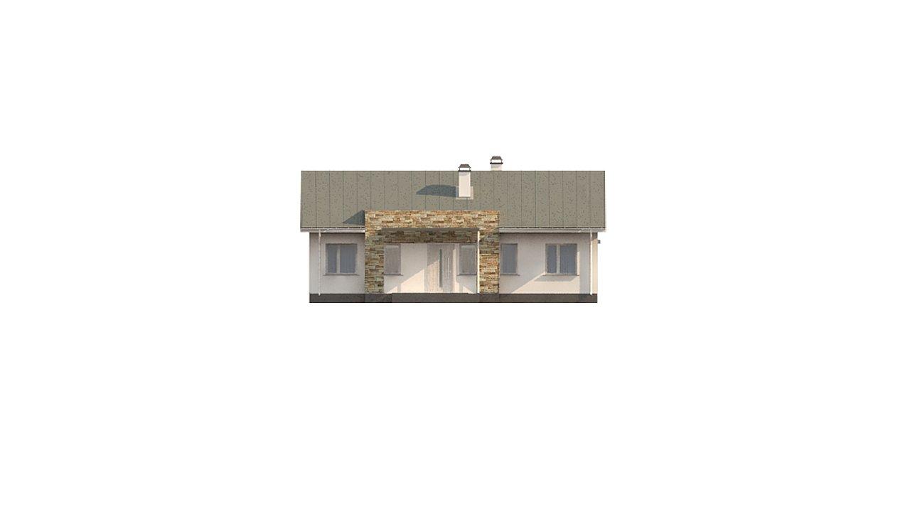 Простой и элегантный одноэтажный дом. 7