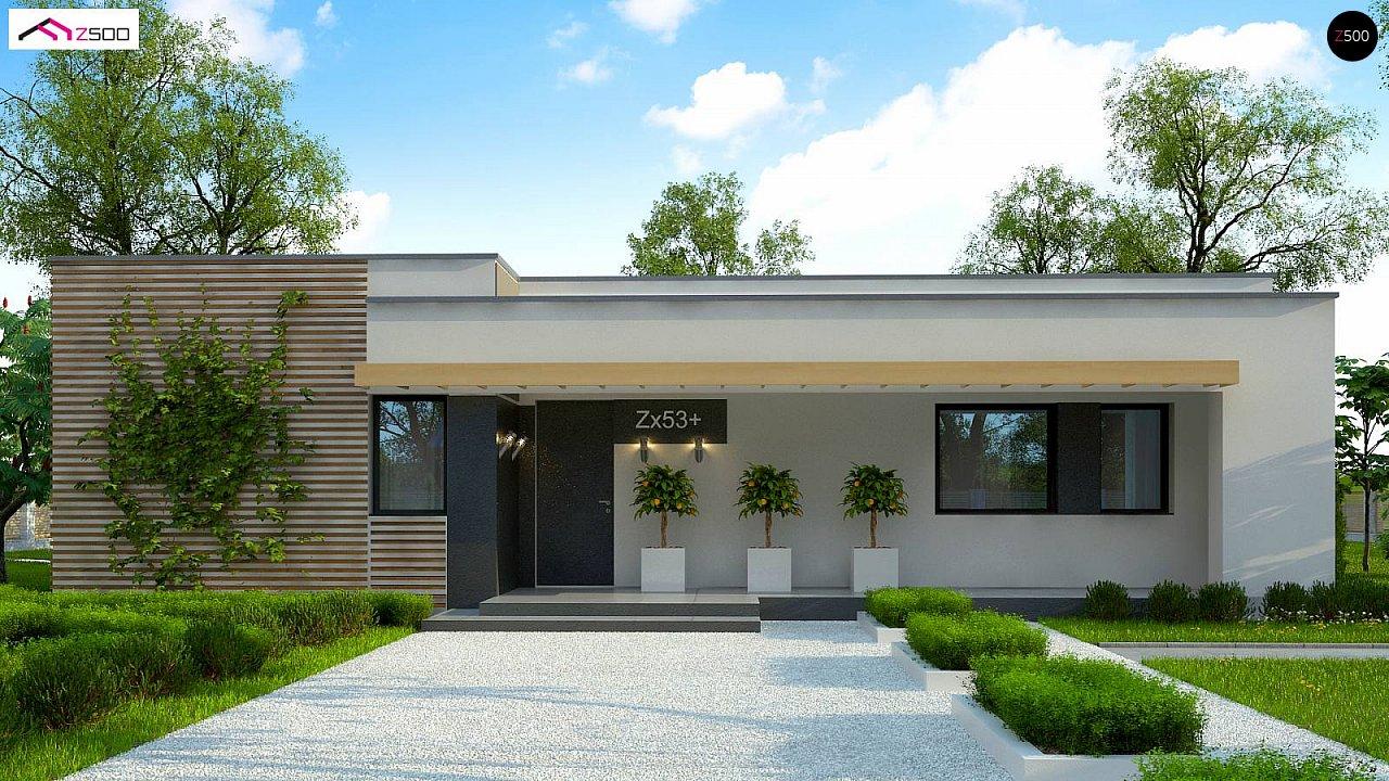 Современный комфортабельный одноэтажный дом с функциональным интерьером и уютной террасой. 6
