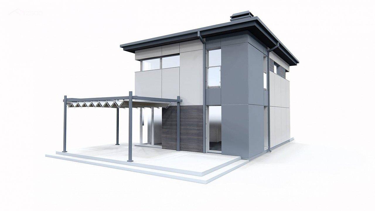 Современный проект дома с 3 спальнями 10