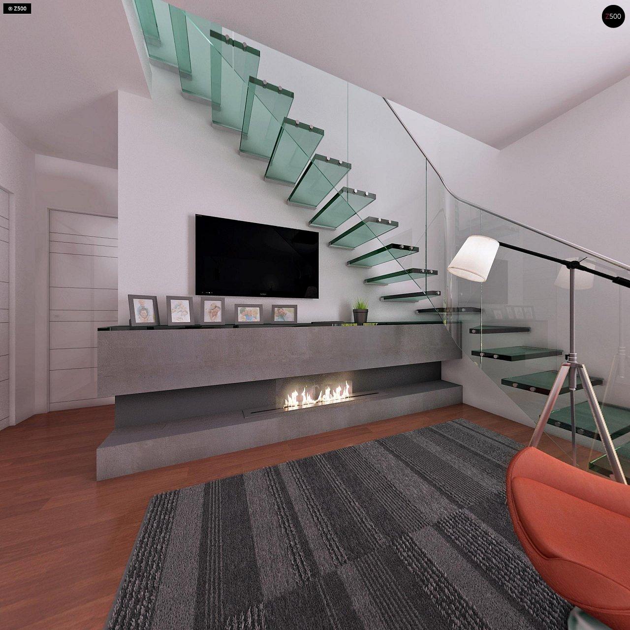 Компактный традиционный дом простой формы с двускатной крышей. 9