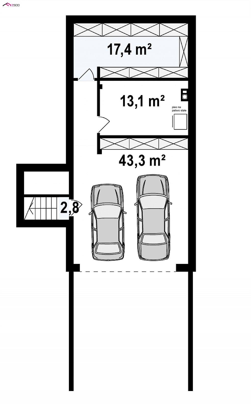 Современный дом минималистичного дизайна с подвалом план помещений 3