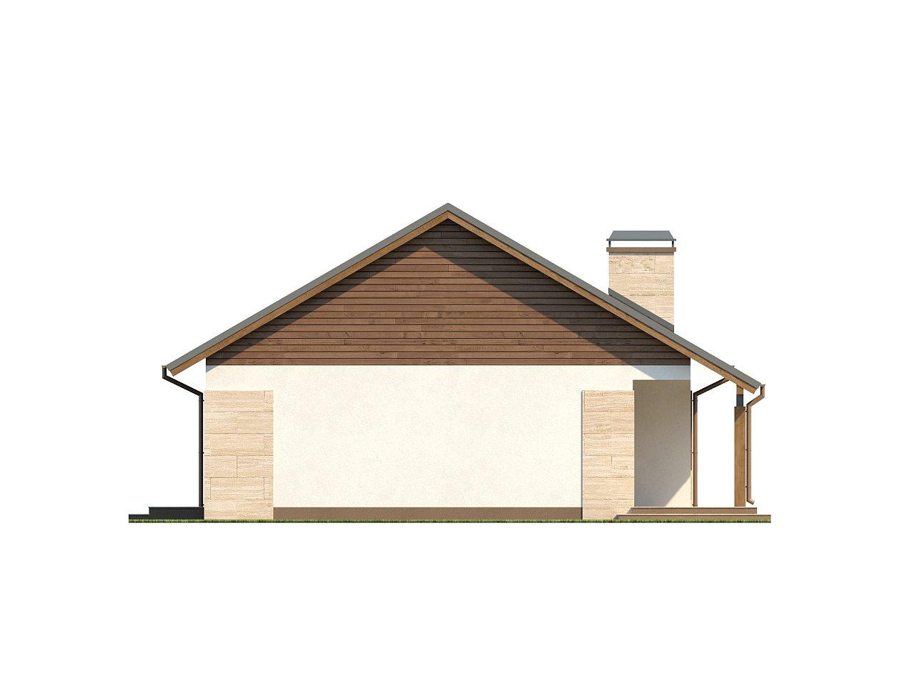 Проект выгодного одноэтажного дома с возможностью адаптации чердачного помещения. 18