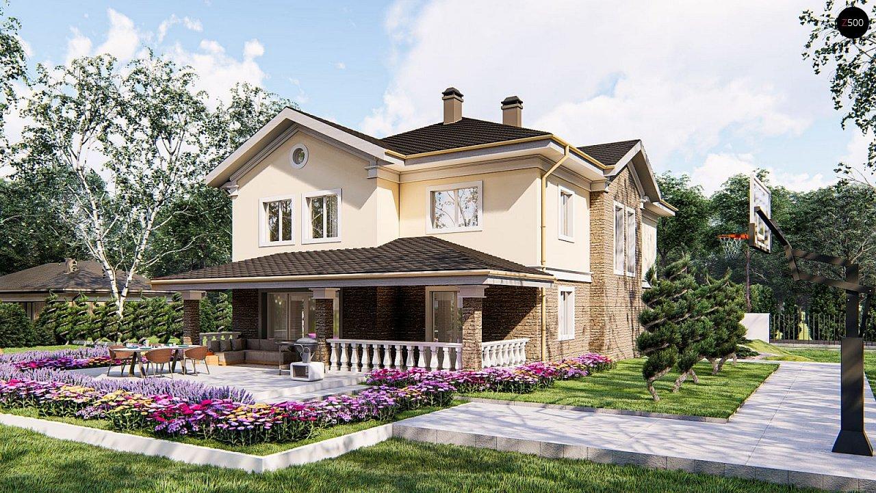Элегантный двухэтажный классический дом с балконом - фото 4