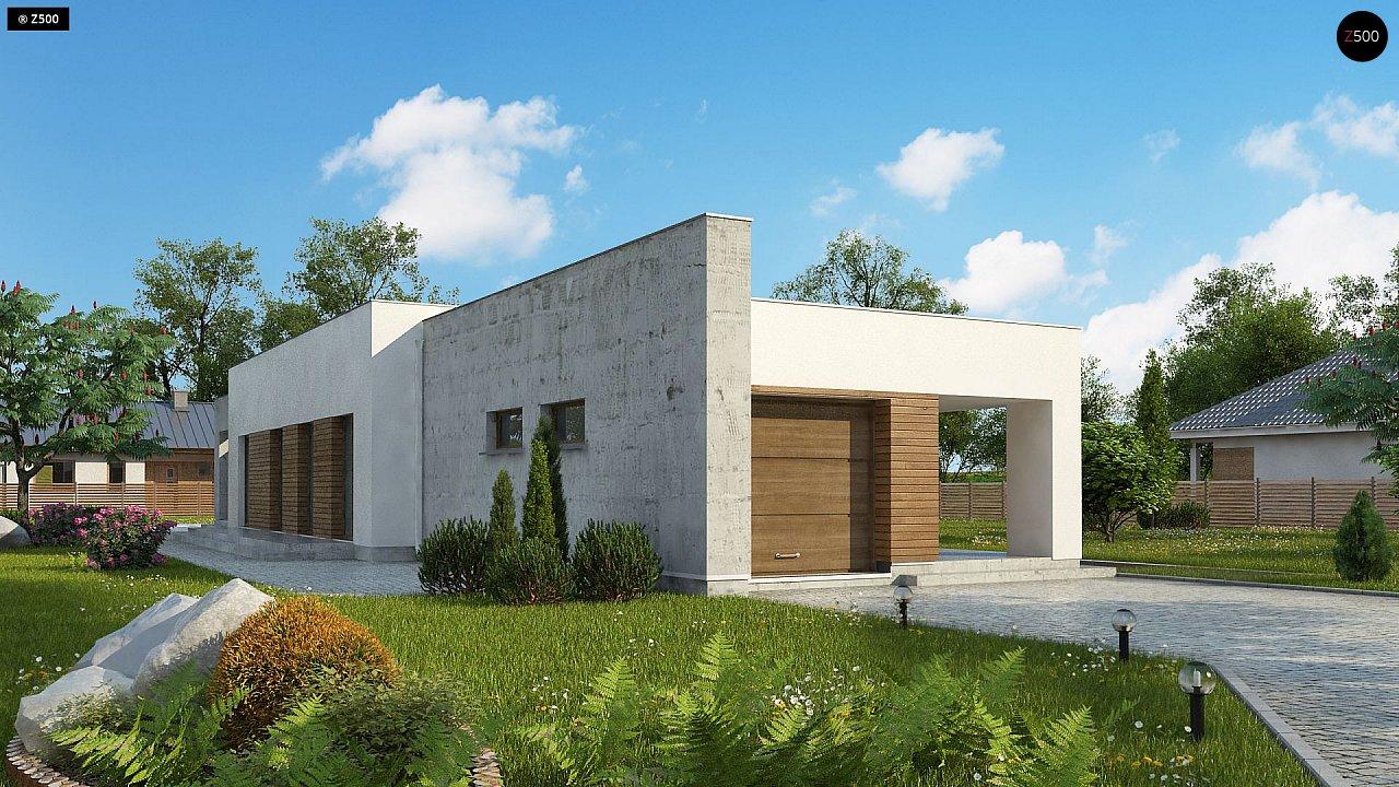 Комфортный одноэтажный дом для узкого участка. 1