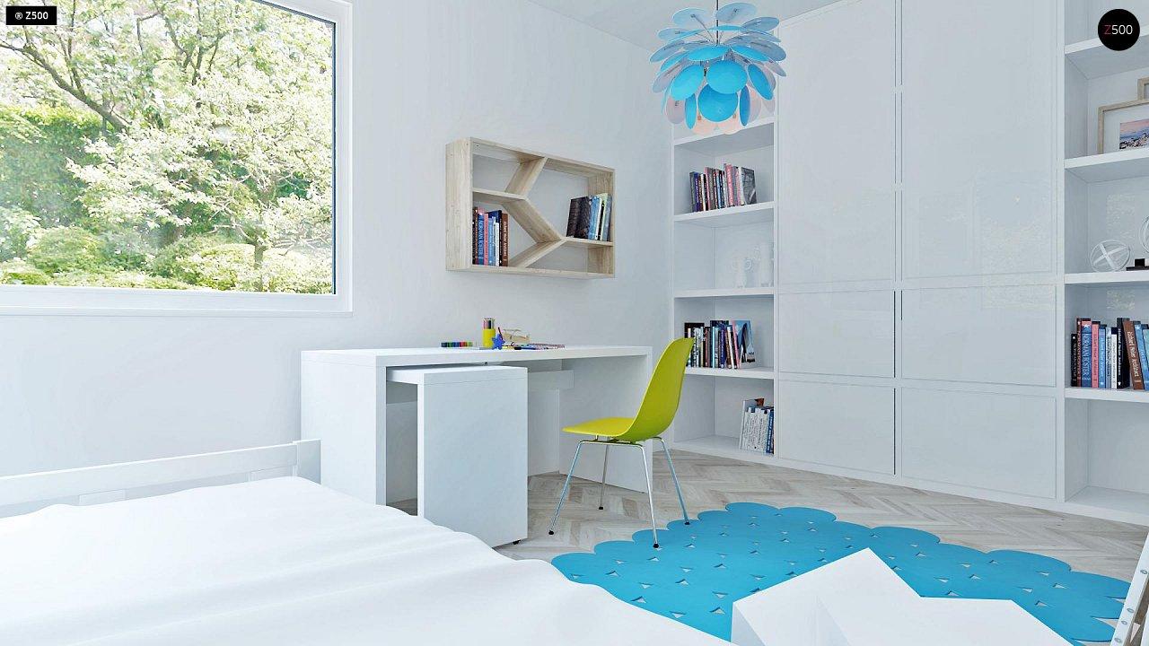 Проект компактного двухэтажного дома строгого современного стиля. 20