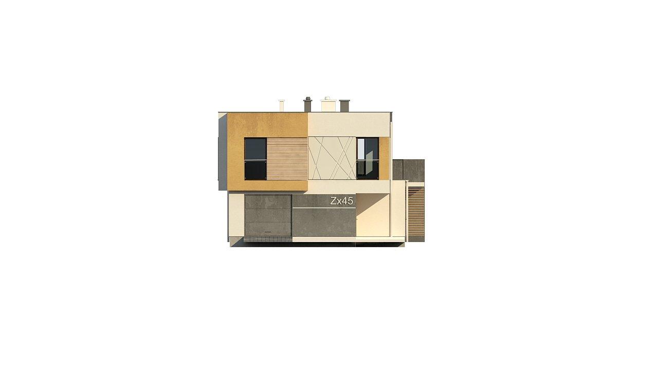 Дом характерного современного дизайна с гаражом и кабинетом на первом этаже. - фото 40