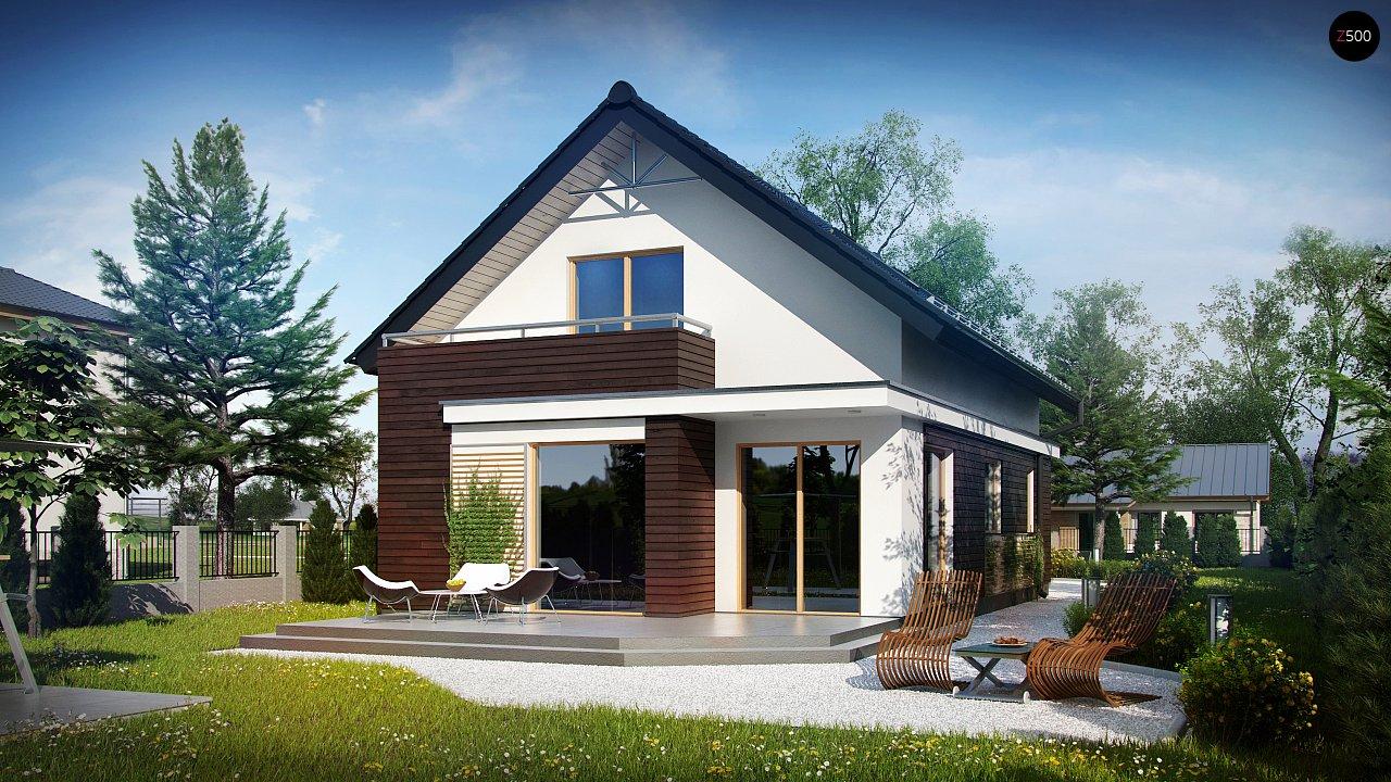 Функциональный аккуратный дом с мансардой, также для узкого участка. 2