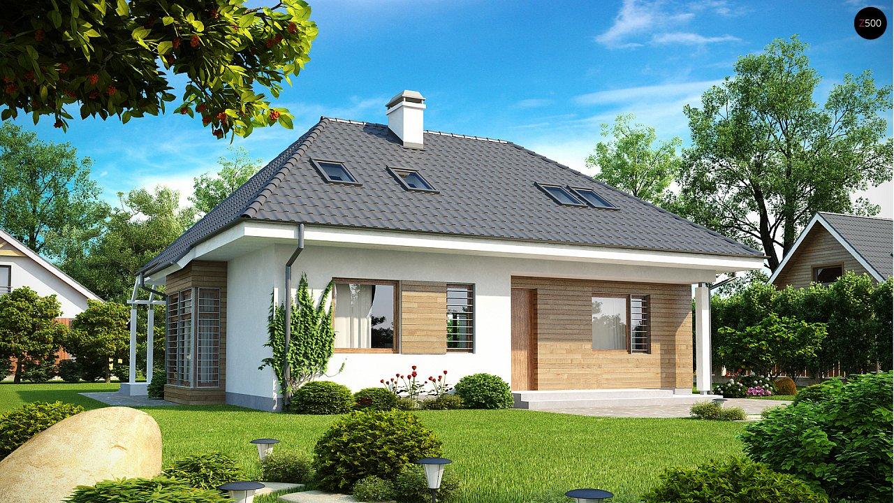 Проект функционального дома с дополнительной небольшой ночной зоной на первом этаже. - фото 1