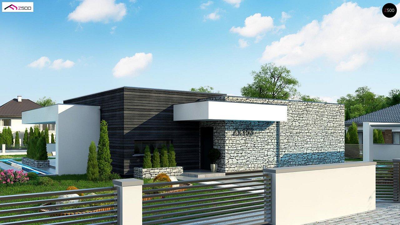 Современный одноэтажный дом с 3 спальнями и внутренним двориком 1