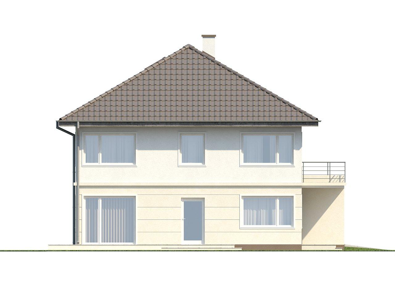 Просторный двухэтажный дом простой формы с террасой над гаражом. - фото 9