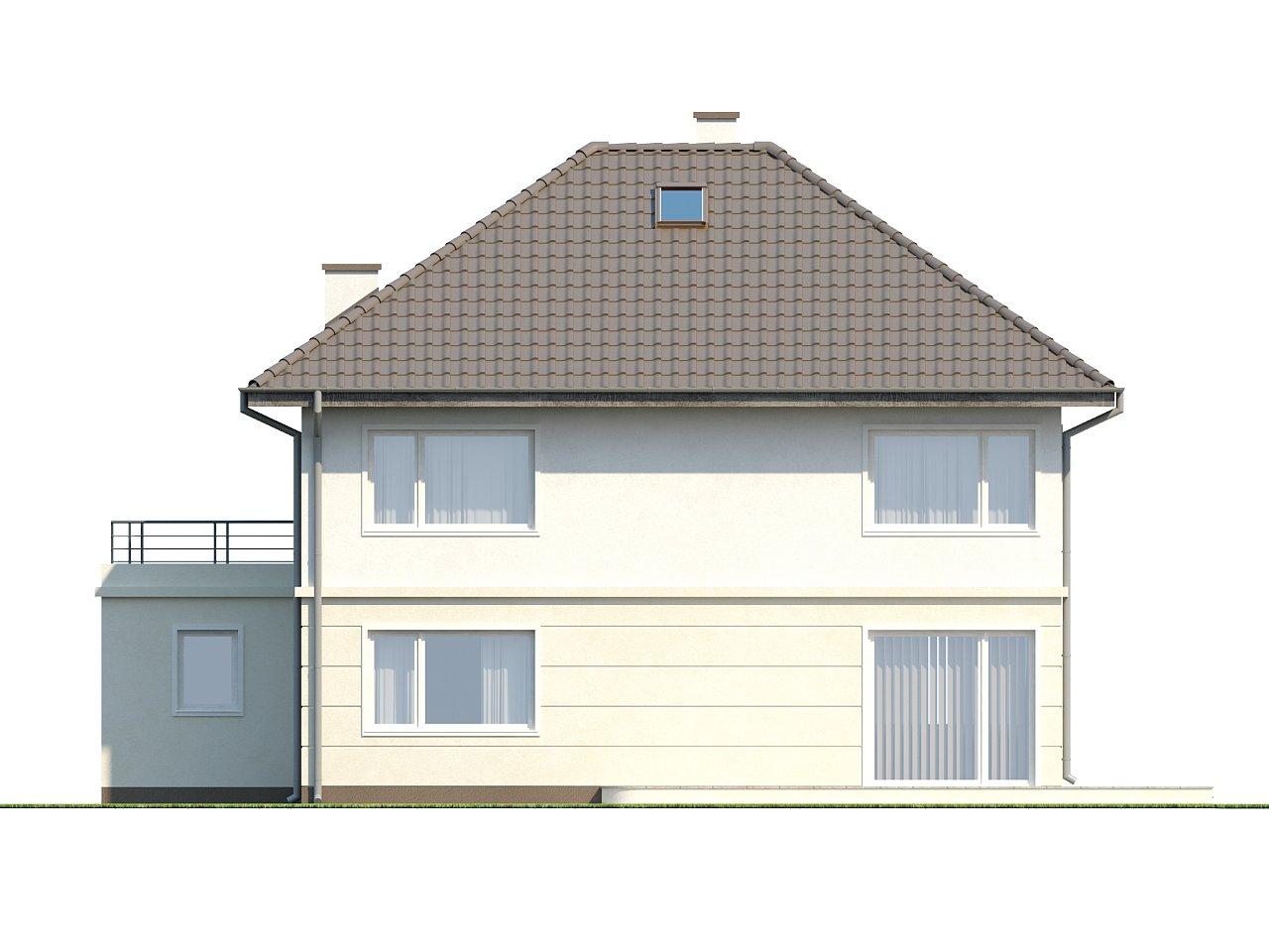 Просторный двухэтажный дом простой формы с террасой над гаражом. - фото 8