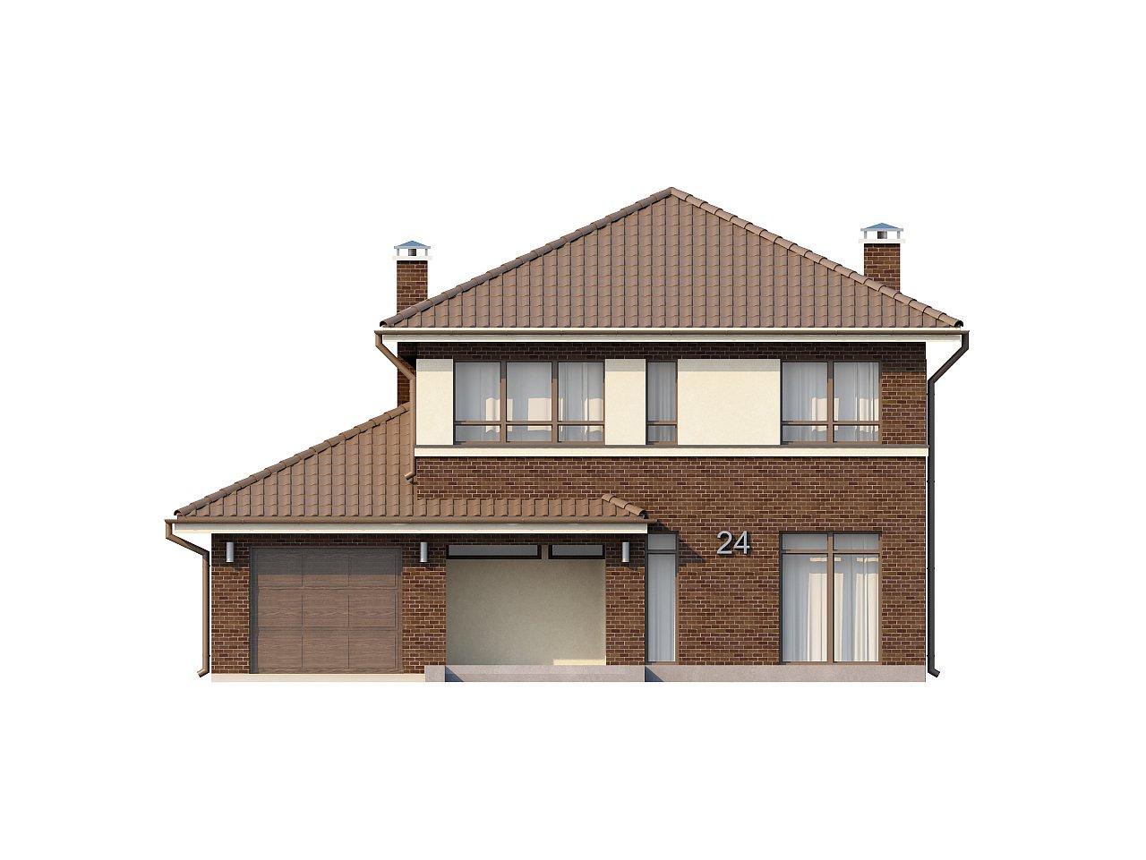 Элегантный двухэтажный дом с боковым гаражом и кабинетом на первом этаже. 21