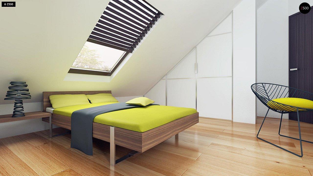 Небольшой дом с дополнительной комнатой на первом этаже, большим хозяйственным помещением и эркером в столовой. 19