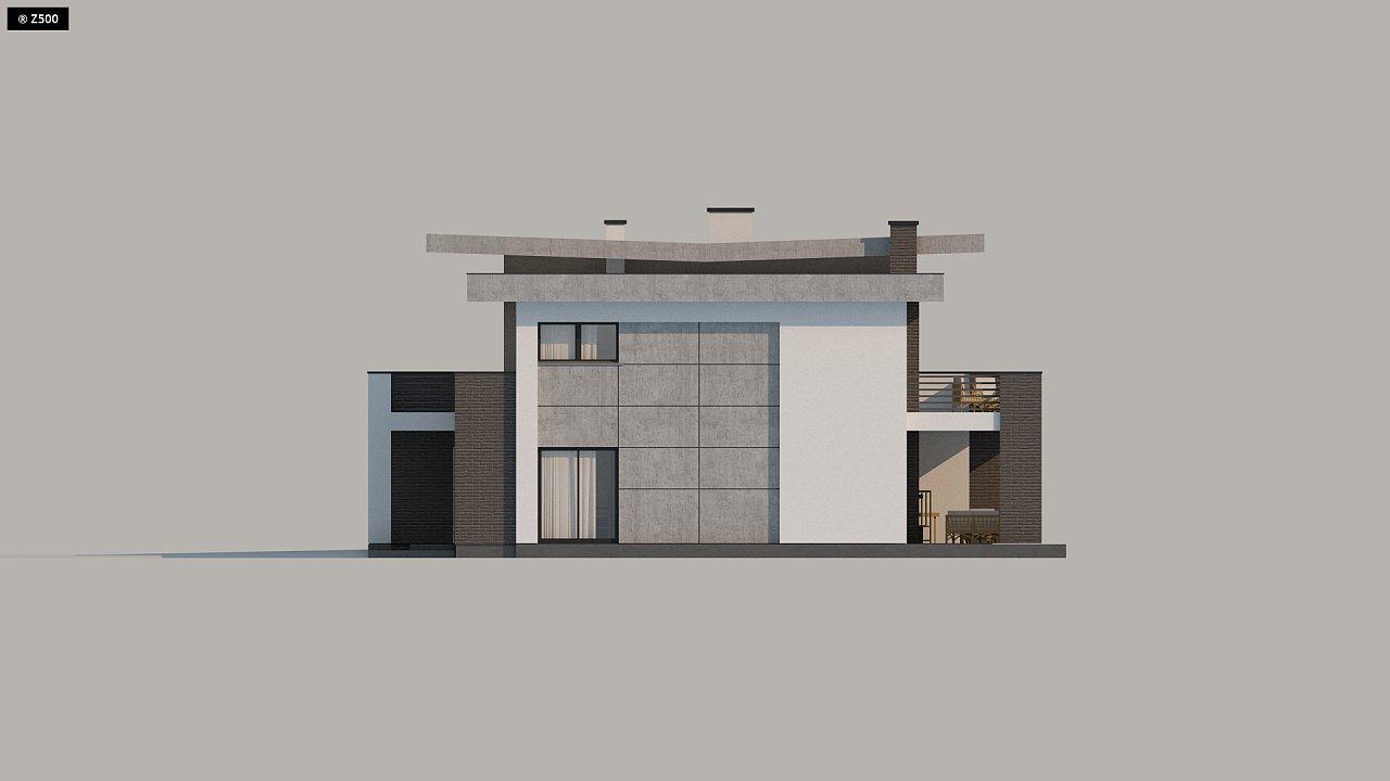 Красивый и комфортный дом с плоской кровлей, гаражом на две машины и просторными террасами. - фото 19