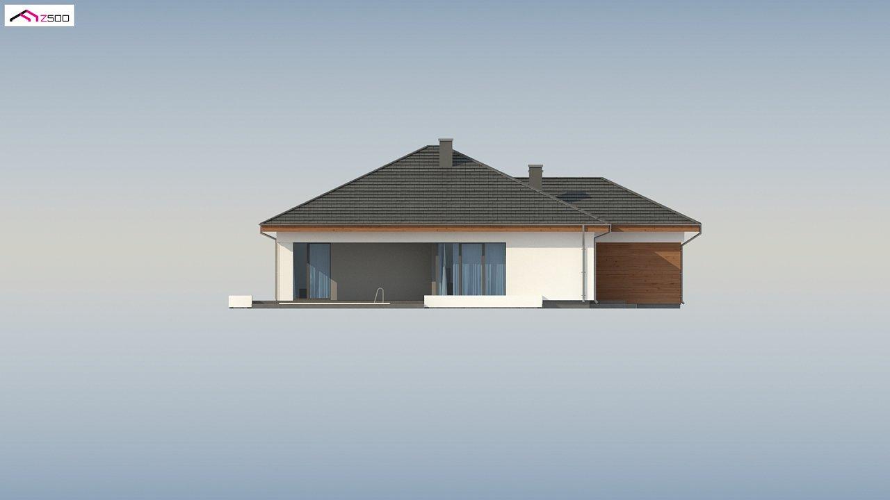 Проект комфортного одноэтажного дома с гаражом для двух авто. 9
