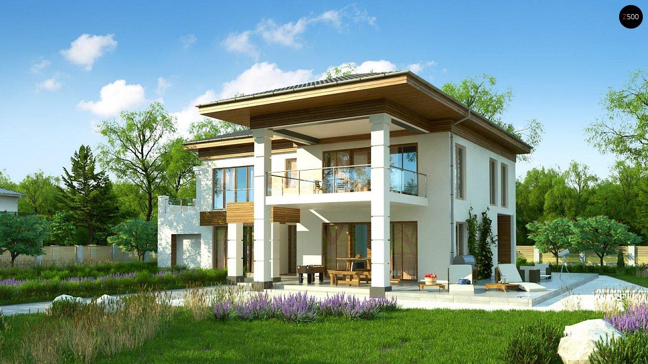 Проект стильного и просторного дома с элементами классической архитектуры. - фото 2
