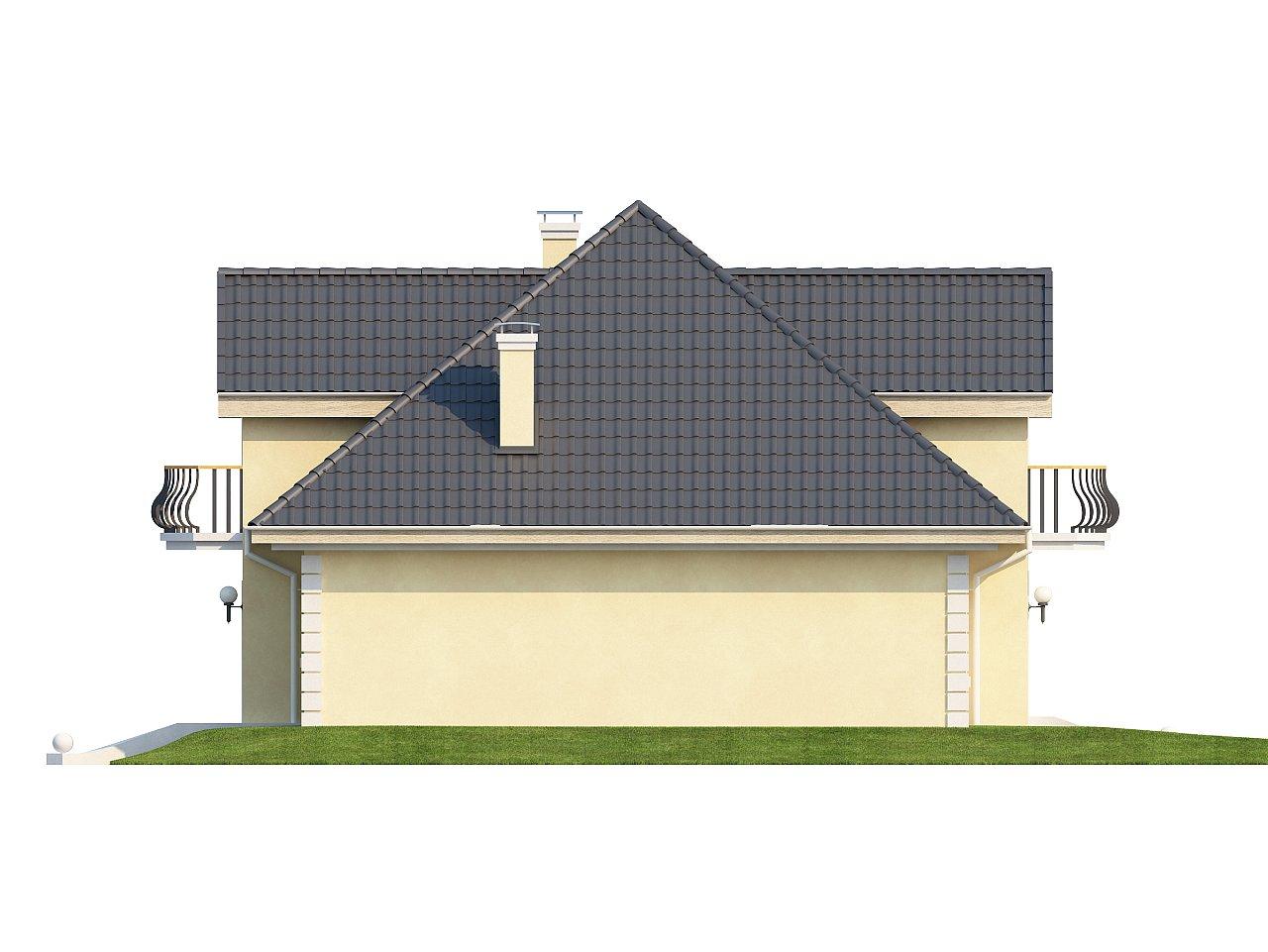 Проект изысканного классического дома с мансардой. 5