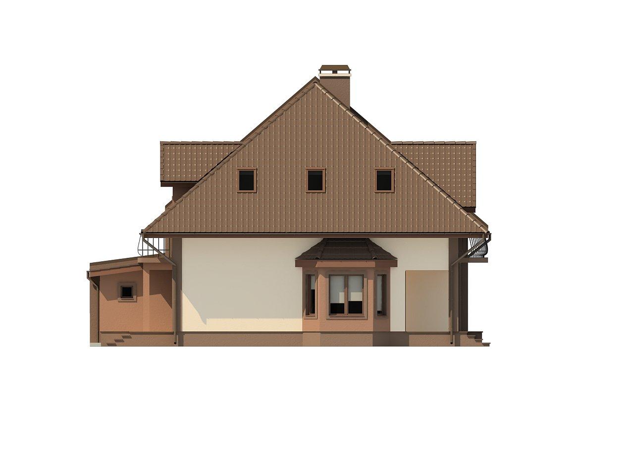 Проект домов близнецов с гаражом и дополнительным помещением на чердаке. 5