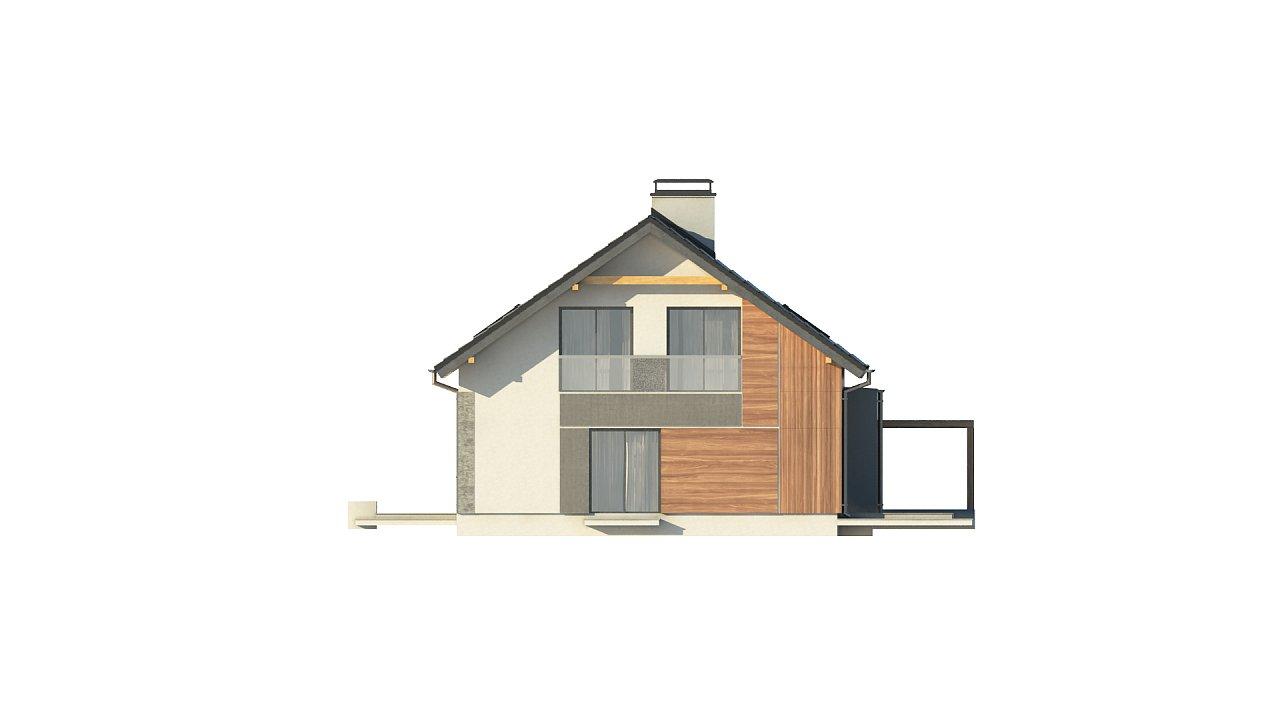Проект двухсемейного дома с отдельной удобной «квартирой» площадью 58 м2. 4