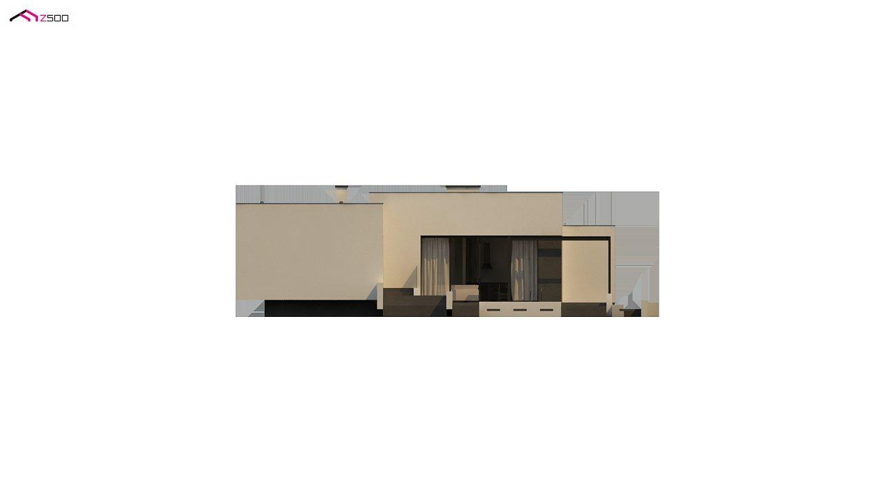 Проект современного одноэтажного дома с плоской кровлей. - фото 16