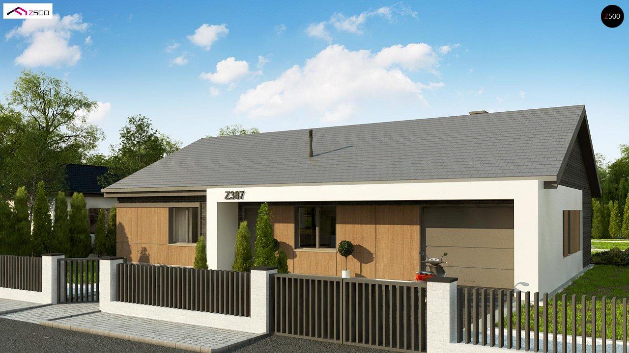 Одноэтажный дом с 4 спальнями, гаражом и 2-х скатной крышей 6